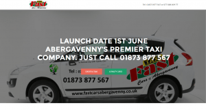 Website for Fast Cars of Abergavenny