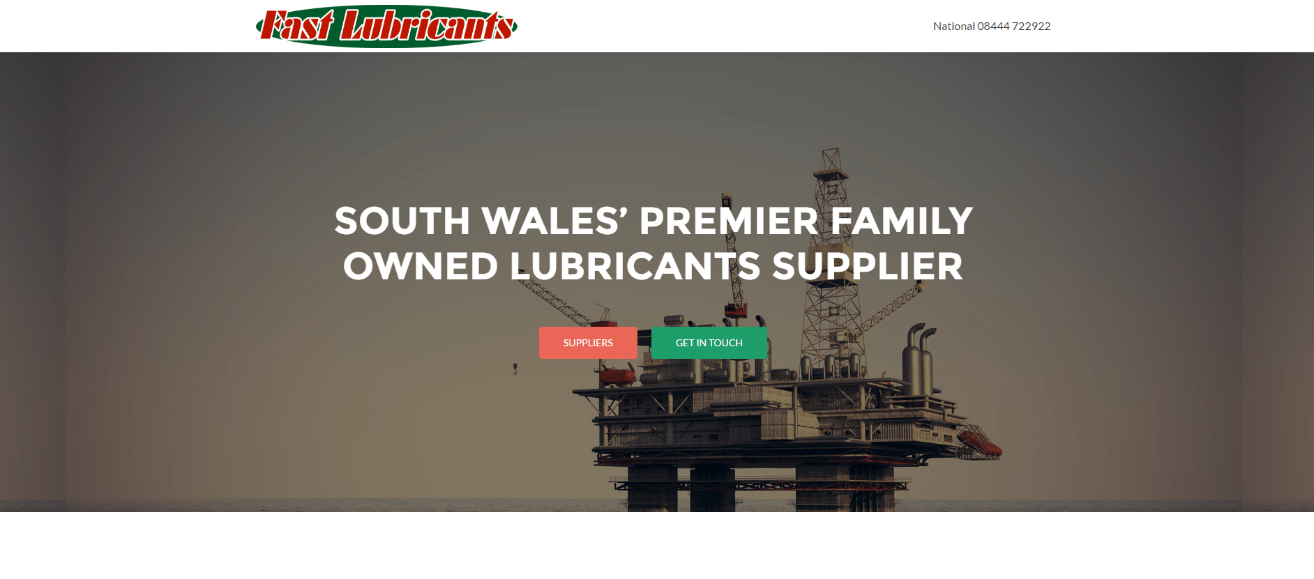 Website for Fast Lubricants