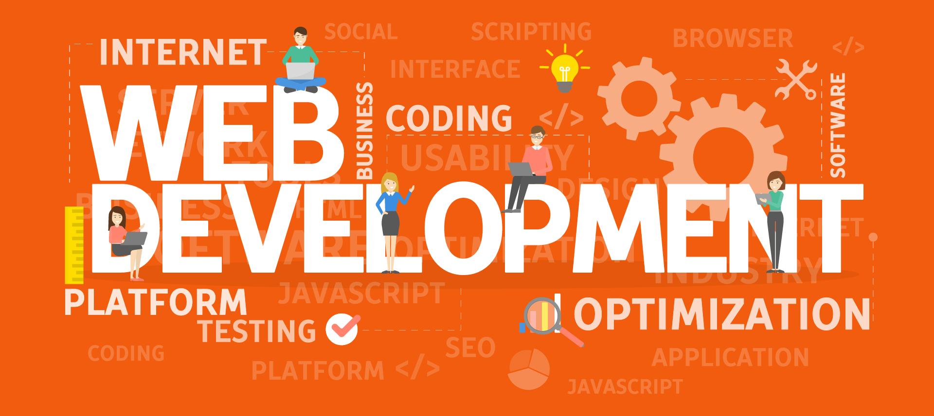 Image of website being built