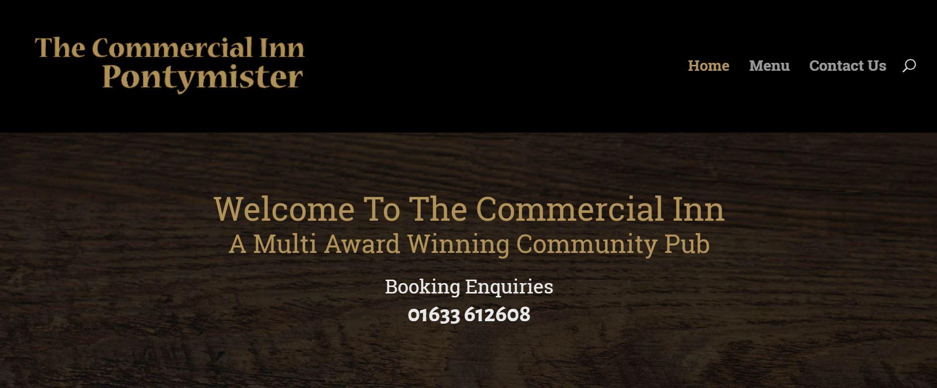 The Commercial Inn Pontymister website